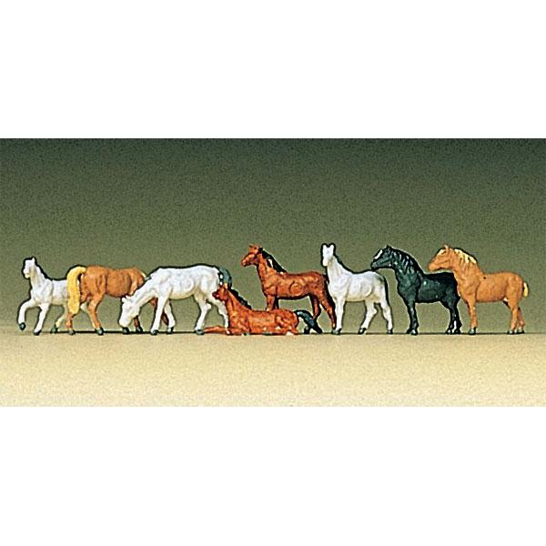 馬 8頭 :プライザー 塗装済完成品 Z(1/220) 88578
