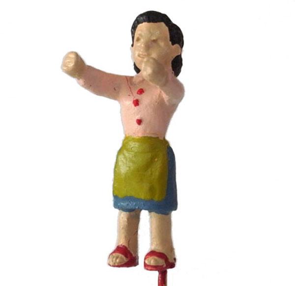 さかつう人形シリーズまなべコレクション 洗濯物を干す女性 :さかつう 塗装済完成品 HO(1/87) 7508