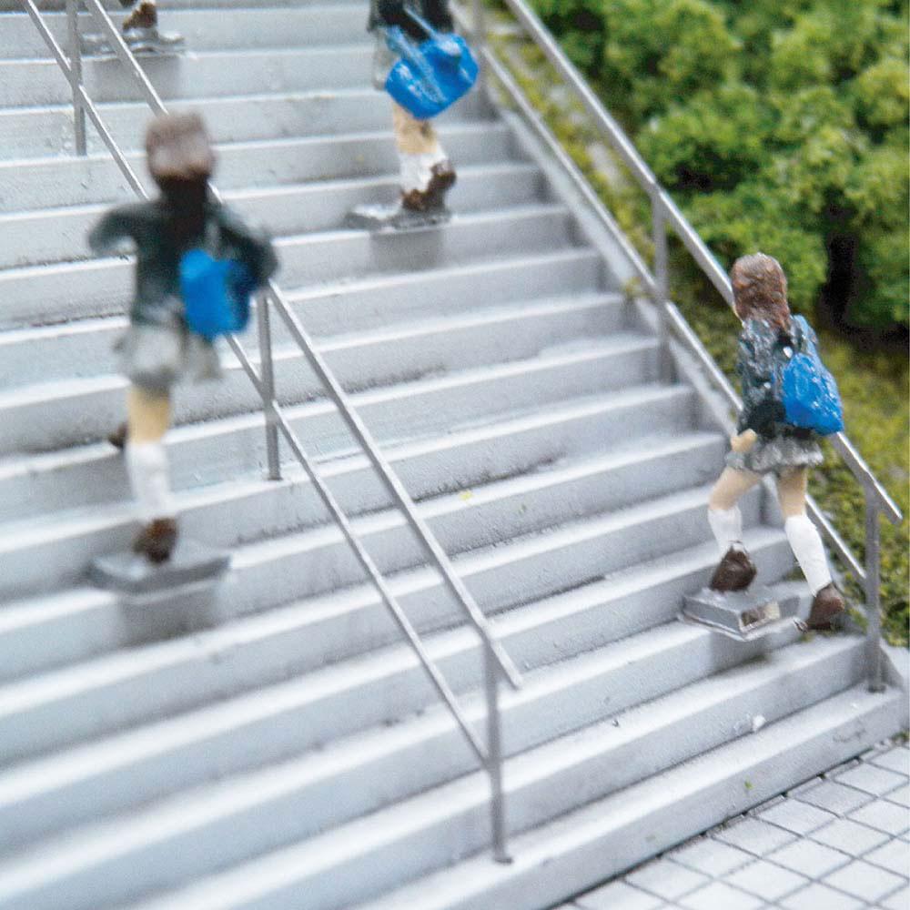 【模型】階段の手すり(45度) ※こばる同等品 :さかつう 未塗装キット N(1/150) 3819