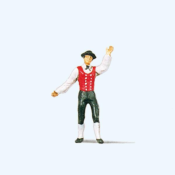 ドイツの民族衣装を着た男性(黒い森) :プライザー 塗装済完成品 HO(1/87) 29022☆