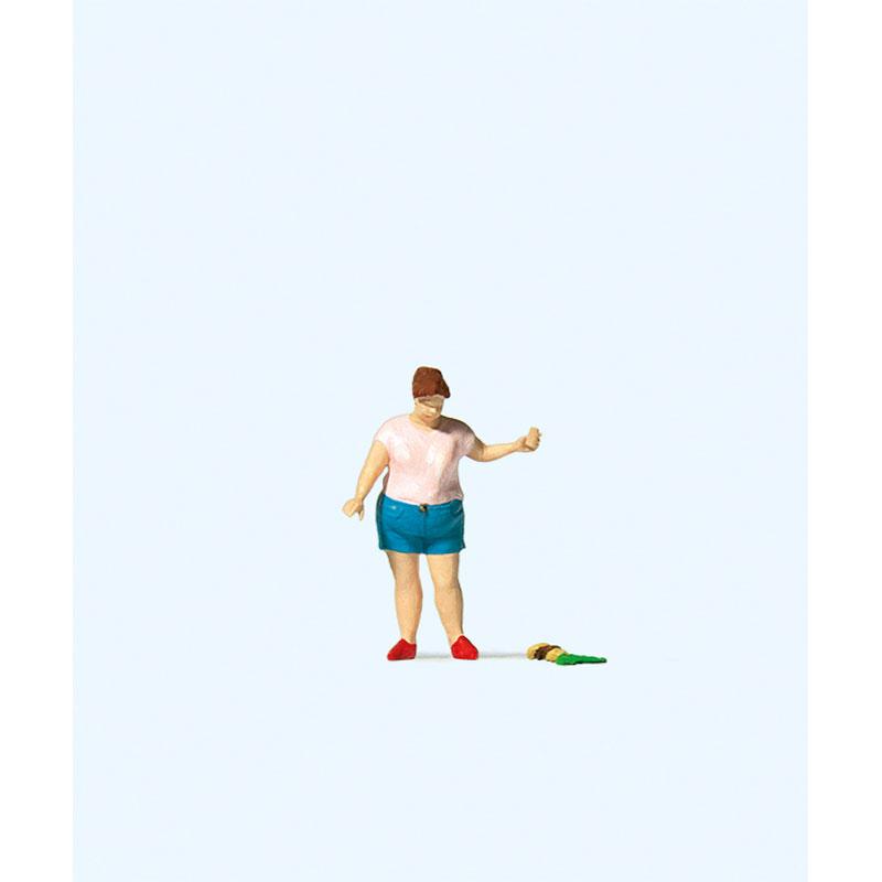 ハンバーガーを落とした女性 :プライザー 塗装済完成品 HO(1/87) 28232