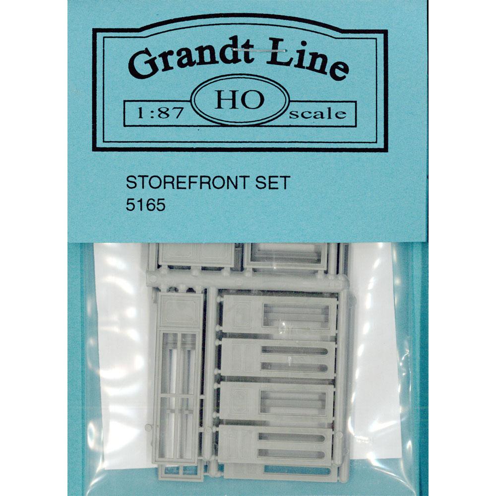 木製ドア 商店店先組 :グラントライン 未塗装キット(部品) HO(1/87) 5165