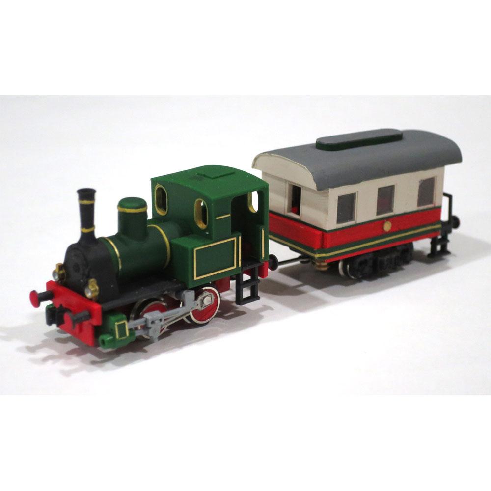 電池内蔵自走式 ミニミニトレイン <緑> SL列車仕様 :石川宜明 塗装済完成品 N(1/150)