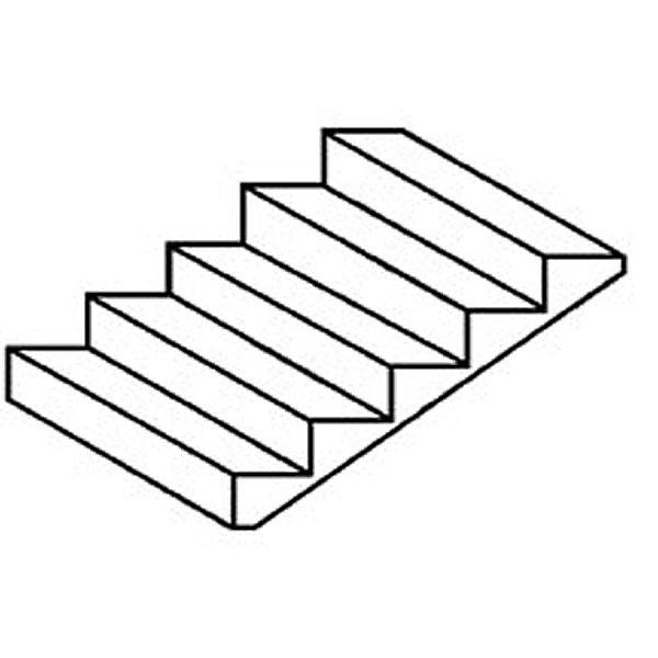 階段 100 x 54 mm :プラストラクト プラ材 ノンスケール STEP-2 90951