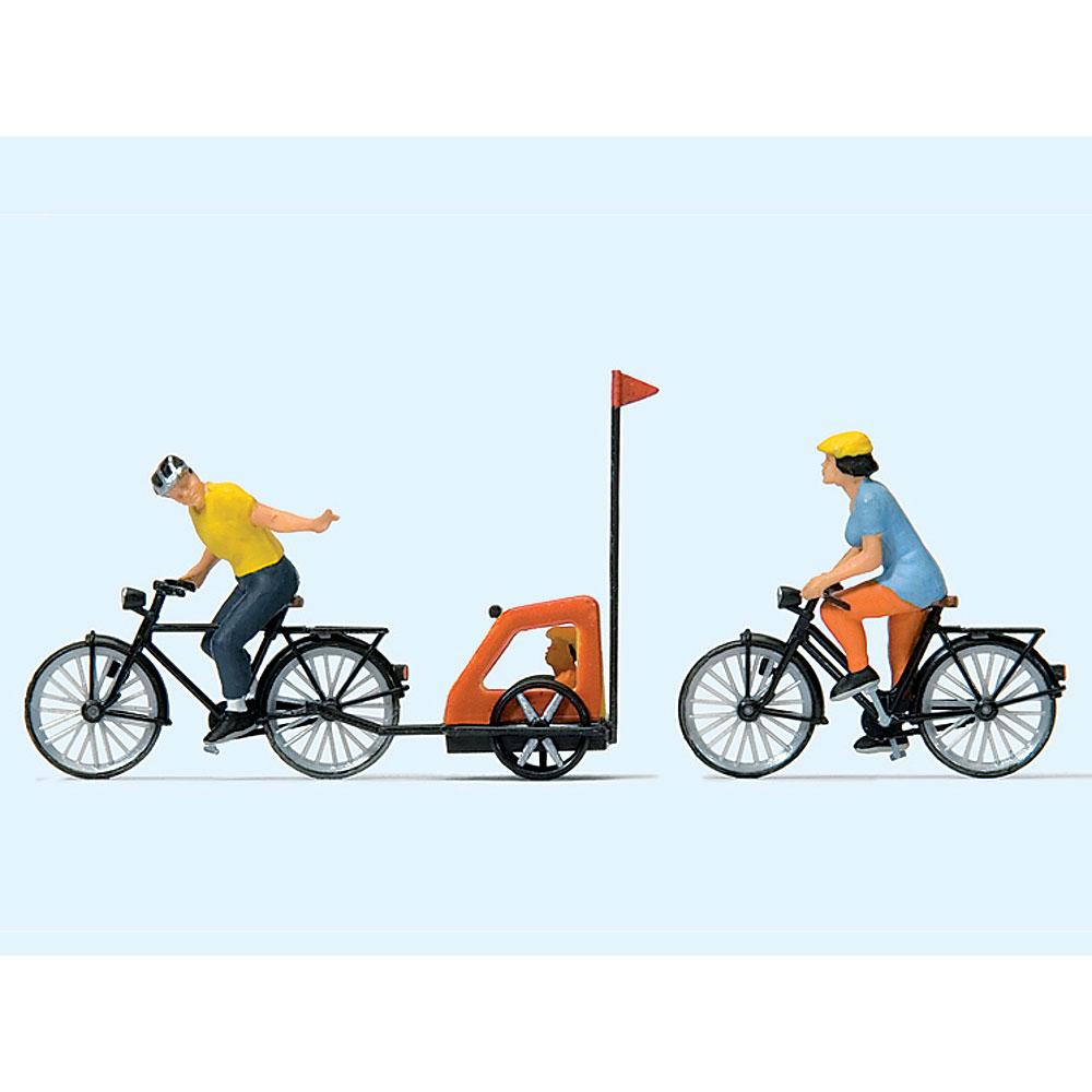 家族でサイクリング (自転車) :プライザー 塗装済完成品 HO(1/87) 10636