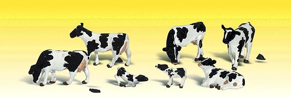 乳牛(ホルスタイン種) :ウッドランド 塗装済完成品 N(1/160) 2187