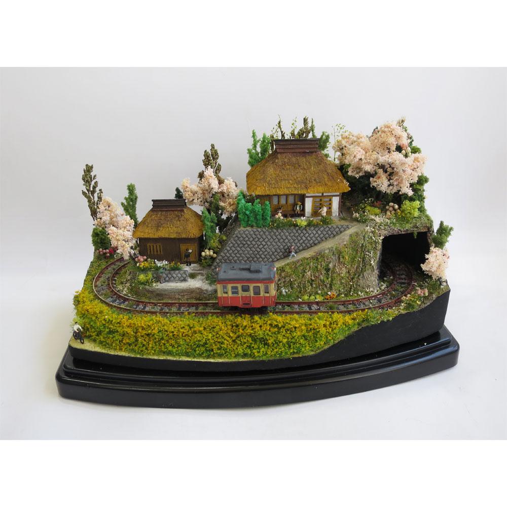 ダイソーケースレイアウト#12 「里山の春」 :石川宜明 塗装済完成品 1/150サイズ