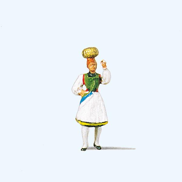 ドイツの民族衣装を着た女性(ウーラッハ地方) :プライザー 塗装済完成品 HO(1/87) 29024☆