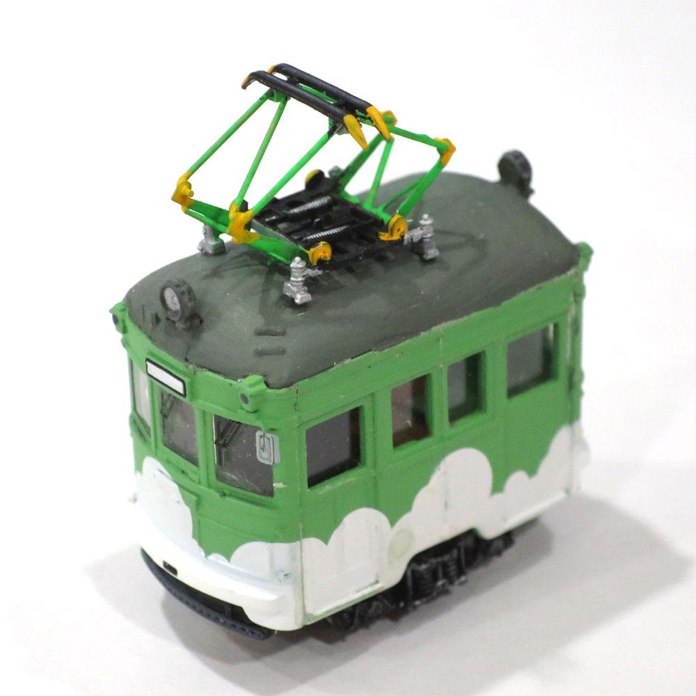 電池内蔵自走式 ミニミニトレイン <緑雲> パンタグラフ仕様 :石川宜明 塗装済完成品 N(1/150)