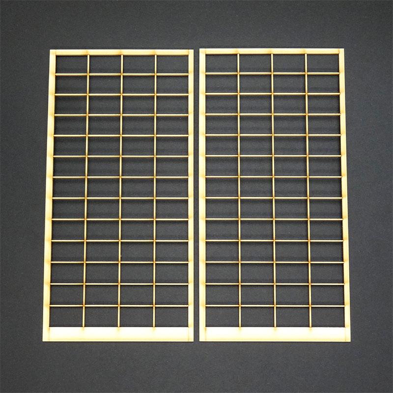 障子 NO1 障子紙なし :コバーニ 未塗装キット 1/12スケール WZ-004