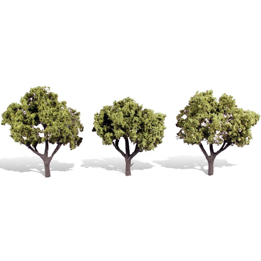 広葉樹(明緑色) 8〜10cm 3本 :ウッドランド 完成品 ノンスケール 3506