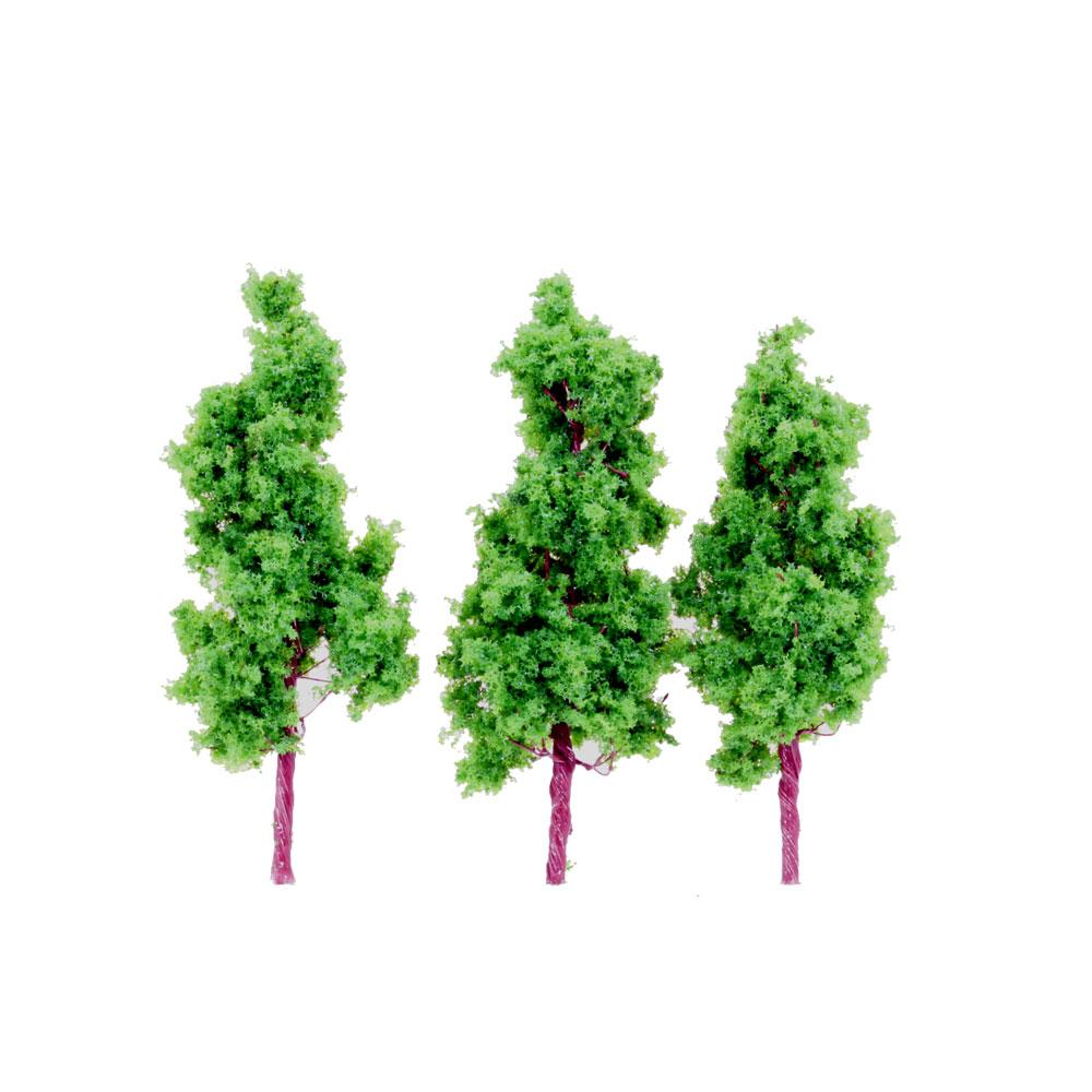 樹木 緑色 70mm 3本入り :ポポプロ 完成品 ノンスケール MT-002