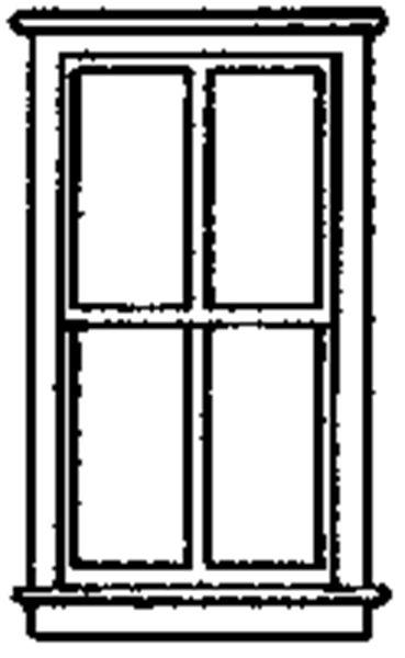 窓 9 x 18mm  :グラントライン 未塗装キット HO(1/87) 5215
