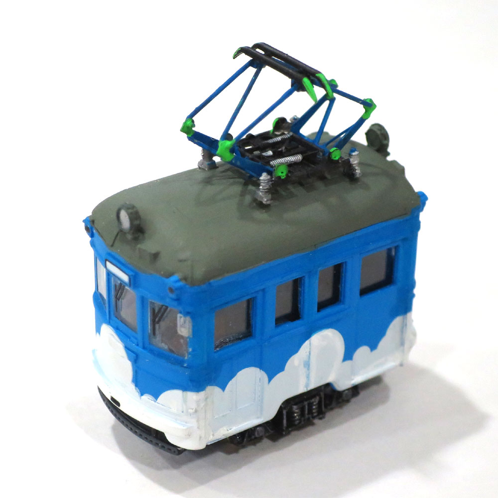 電池内蔵自走式 ミニミニトレイン <青雲> パンタグラフ仕様 :石川宜明 塗装済完成品 N(1/150)