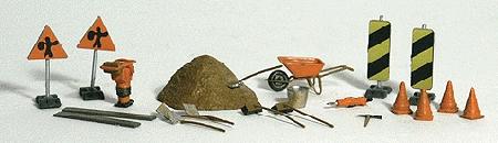 道路工事道具 :ウッドランド 塗装済完成品 HO(1/87) 1851
