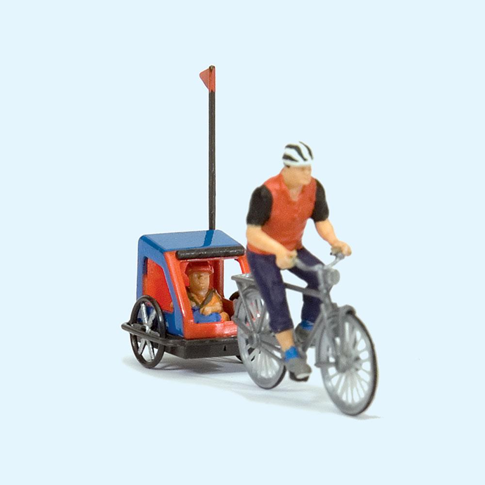 家族でサイクリング (自転車旅行) :プライザー 塗装済完成品 HO(1/87) 10638
