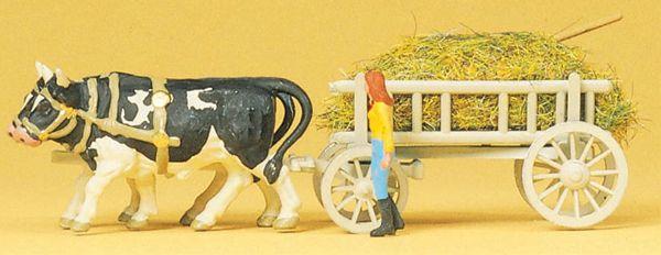 干草を運ぶ牛車 :プライザー 塗装済完成品 HO(1/87) 30472