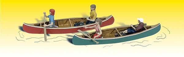 カヌー :ウッドランド 塗装済完成品 N(1/160) 2200