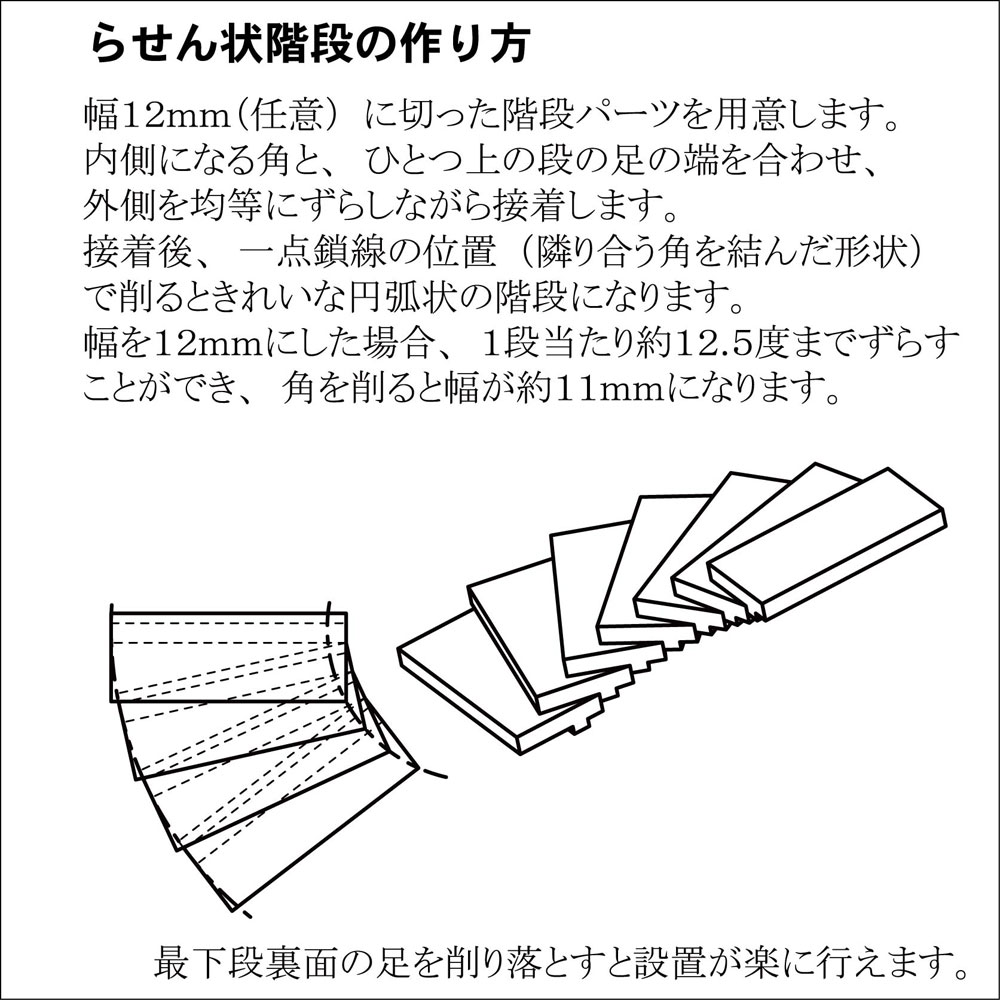 【模型】 45度階段パーツ ※こばる同等品 :さかつう 未塗装キット N(1/150) 3721