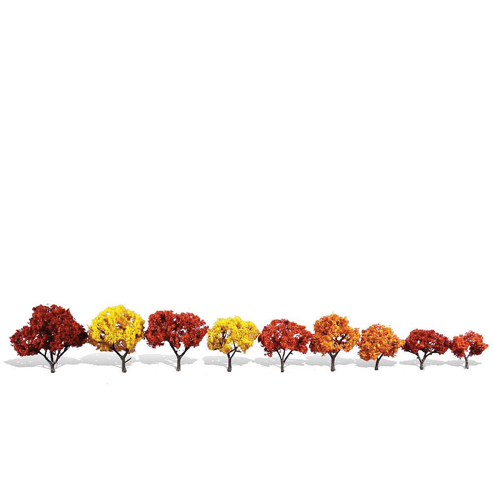紅葉樹 5〜7cm 9本 :ウッドランド 完成品 ノンスケール 3540