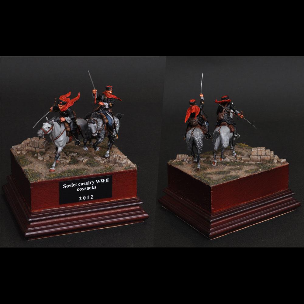 ソビエト・ライト・キャバルリー・コサック コサック騎兵 :淺木紳士郎 塗装済完成品 1/35