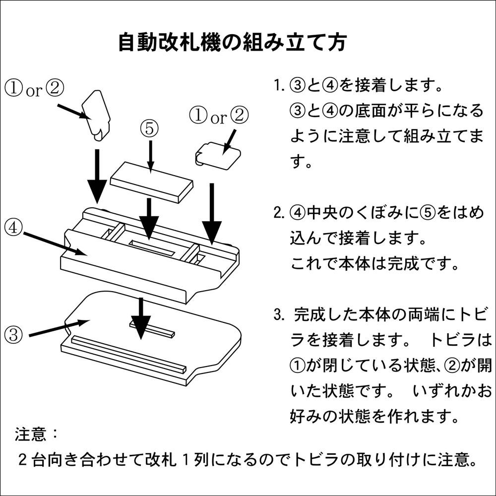 【模型】 自動改札機 ※こばる同等品 :さかつう 未塗装キット N(1/150) 3723