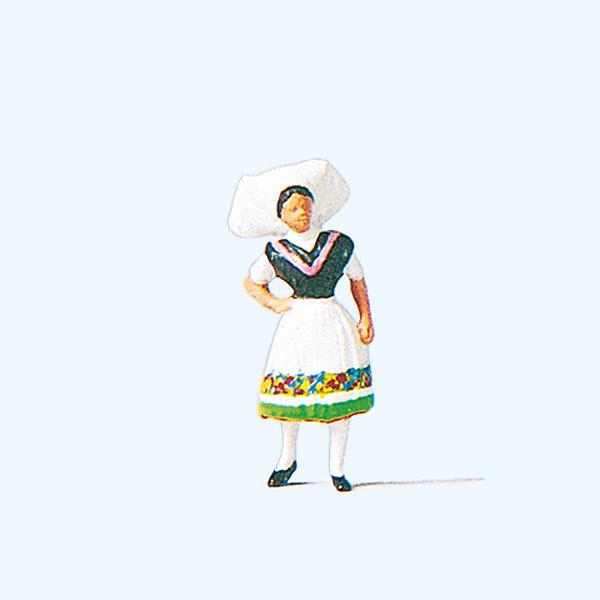 ドイツの民族衣装を着た女性(シュプレーの森) :プライザー 塗装済完成品 HO(1/87) 29036☆