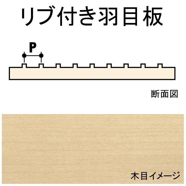 リブ付き羽目板 4.8 x 1.6 x 152 x 609 mm 1枚入り :ノースイースタン 木材 ノンスケール 452