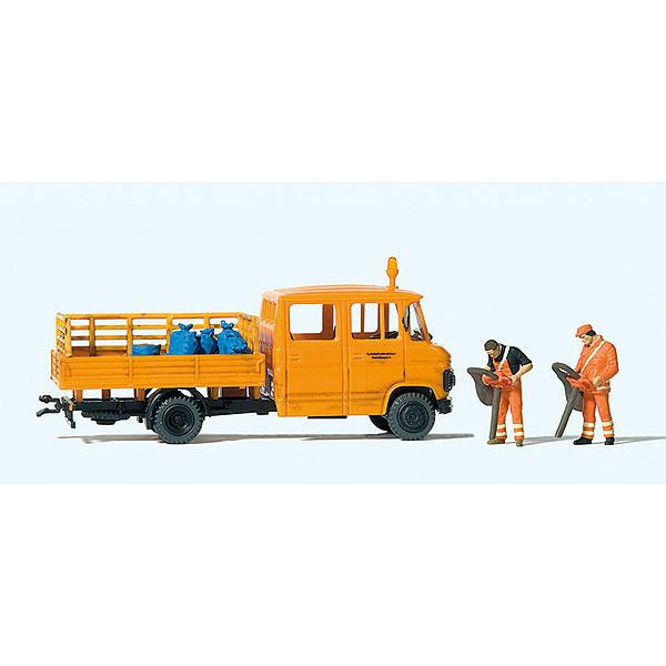道路整備・清掃作業中 (ベンツ・トラック) :プライザー 塗装済完成品 HO(1/87) 33262