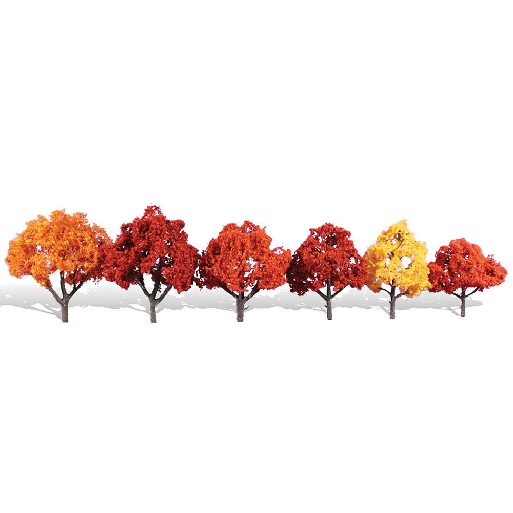 紅葉樹 8〜11cm 6本 :ウッドランド 完成品 ノンスケール 3541