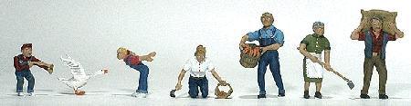 酪農作業 :ウッドランド 塗装済完成品 HO(1/87) 1857