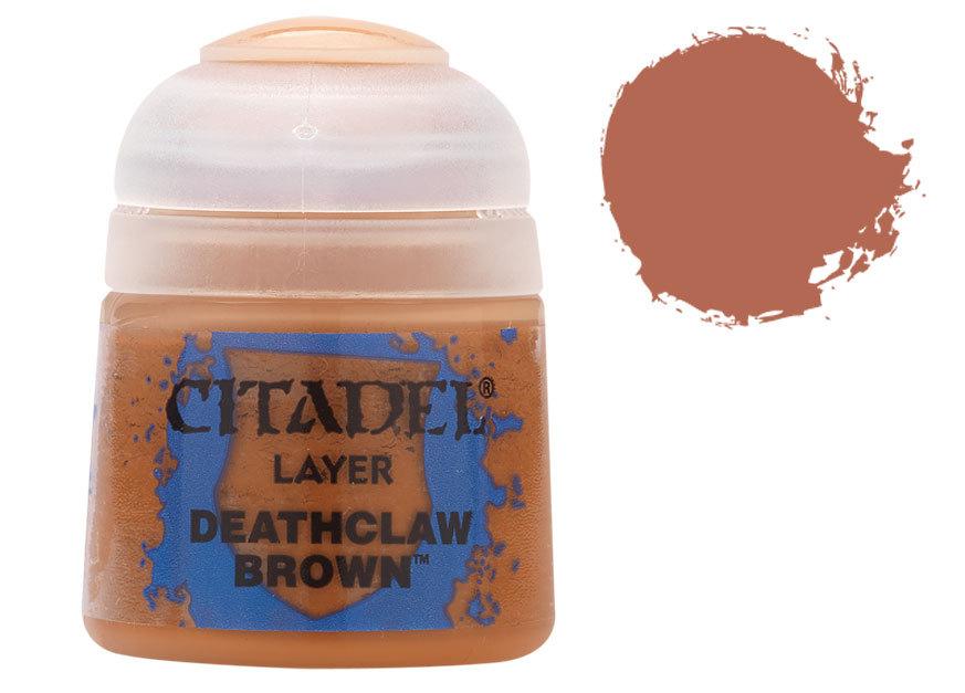 シタデル・レイヤー Deathclaw Brown(デスクロウ・ブラウン) :ゲームズワークショップ つや消し塗料 22-41