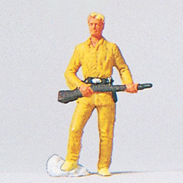 西部劇のガンマン(Old shatterhand) :プライザー 塗装済完成品 HO(1/87) 29056