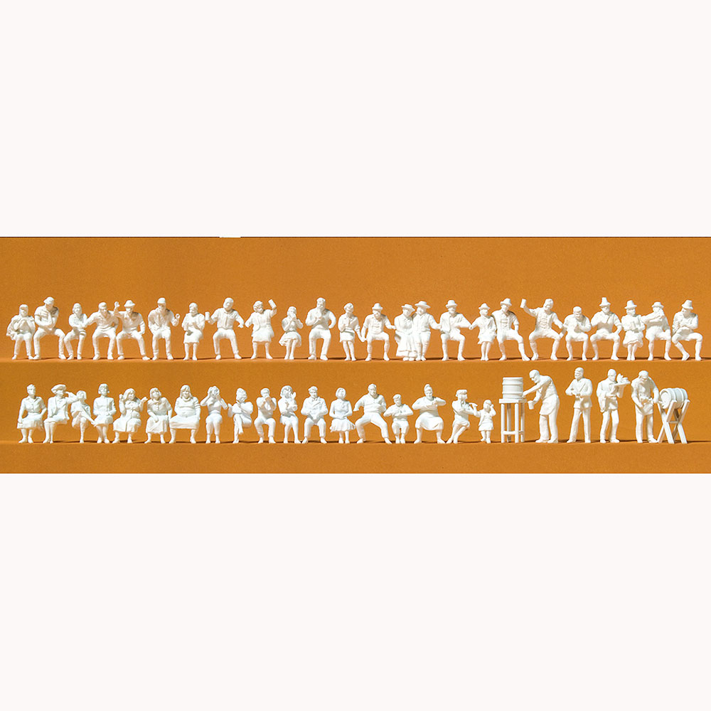 ビアガーデンの人々 47体 :プライザー 未塗装キット HO(1/87) 16356