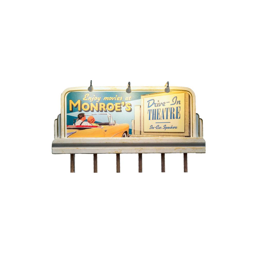LED付き看板 ドライブインシアター JP5794 :ウッドランド 塗装済完成品 HO(1/87) Just Plug対応