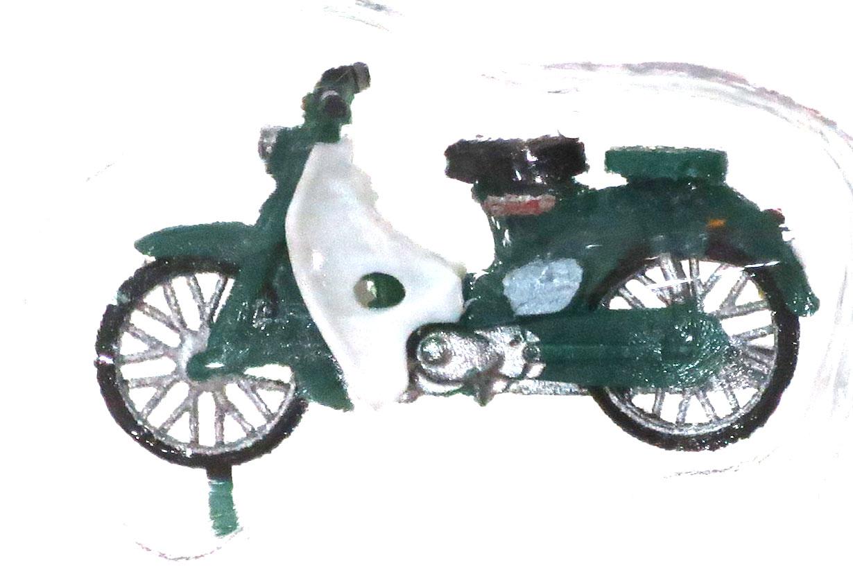 ホンダ・スーパーカブ 緑 スタンダード :エコーモデル 塗装済完成品 HO(1/80) 5012