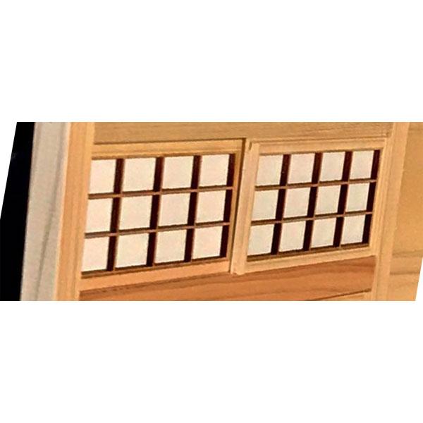 和室キット 欄間障子(2枚入) :クラフト工房シックパパ キット 1/12 スケール TP-S-002