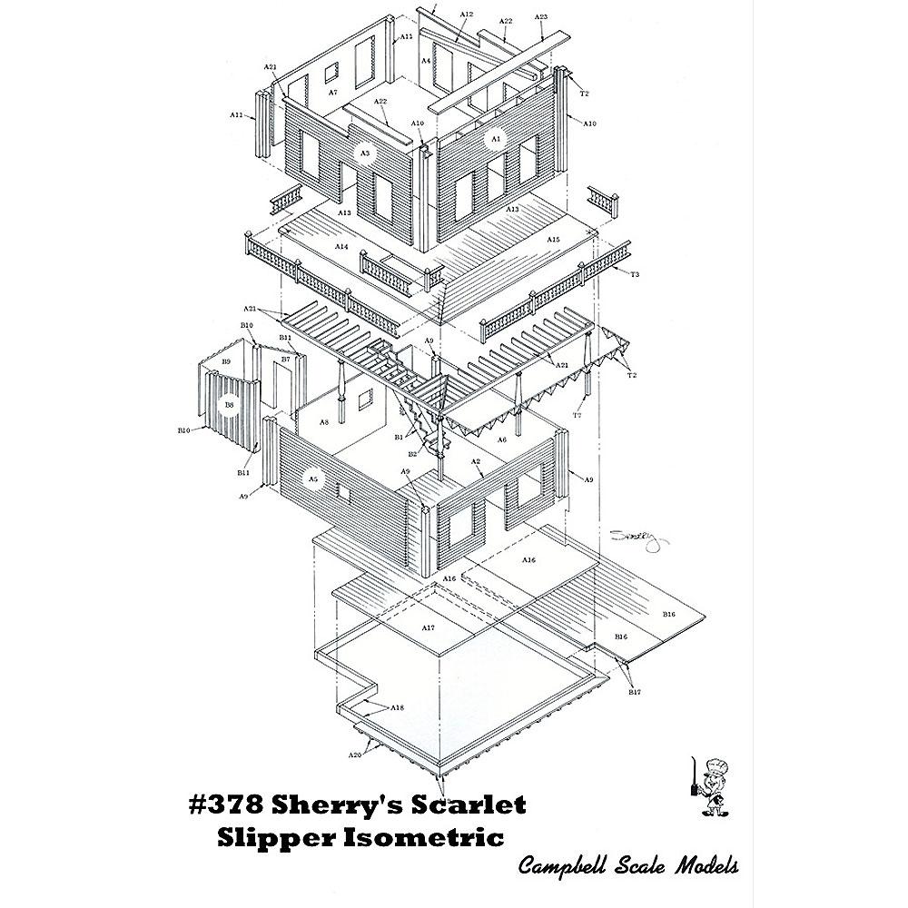 シェリーの酒場 :キャンベル 未塗装キット HO(1/87) 378