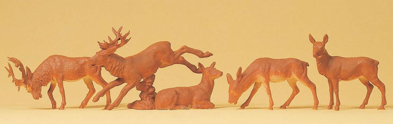 鹿5頭 :プライザー 塗装済完成品 HO(1/87) 14179