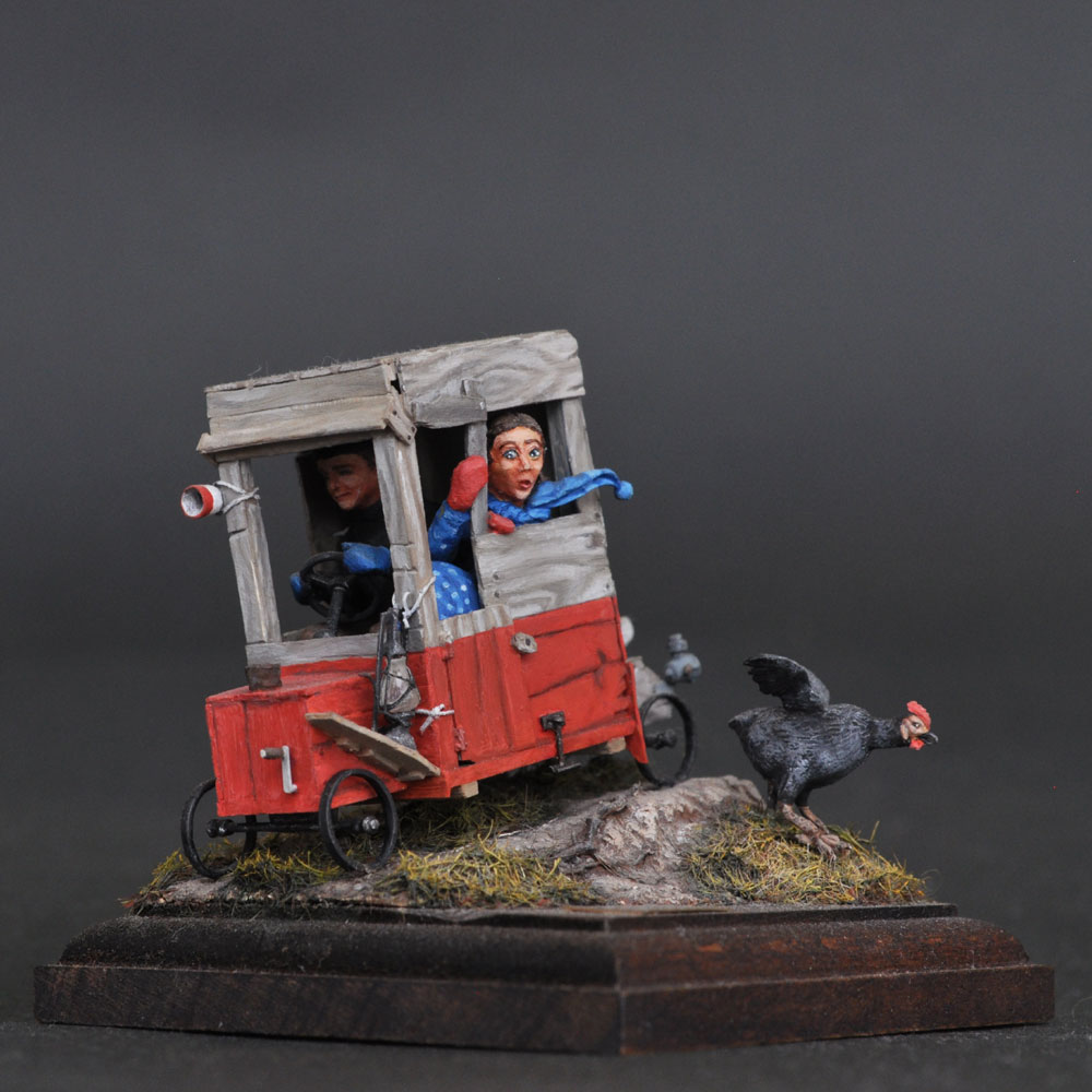 Downhill Racing Cart ダウンヒル・レーシングカート :淺木紳士郎 塗装済完成品 1/35