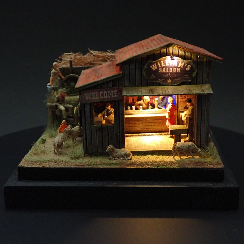 90ミリキューブミニチュア 「WESTERN BAR 12」 :太郎 塗装済完成品 ノンスケール