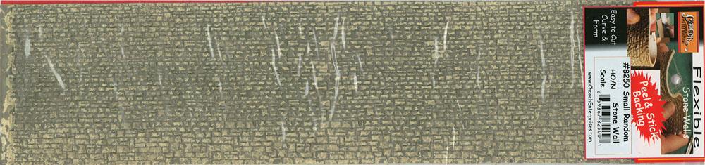 石垣 荒積み 軟質素材 (石小) 33 x 8.5cm :チューチ 塗装済みキット ノンスケール 8250