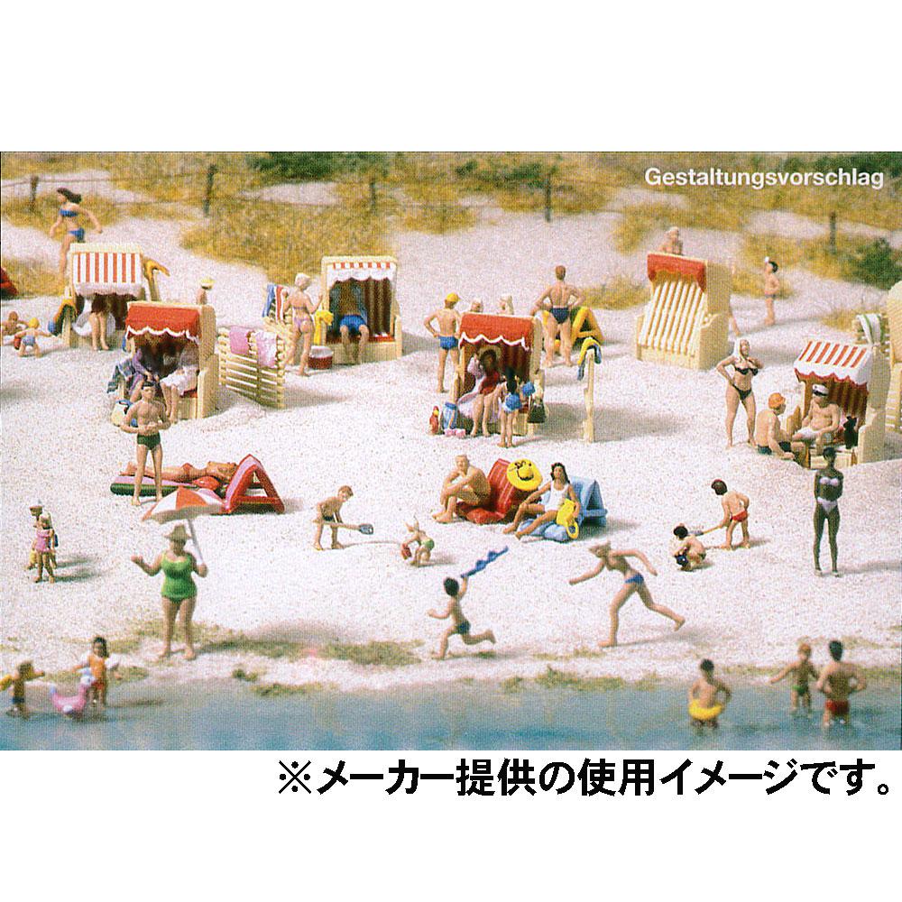 水辺で楽しむ人々 120体セット :プライザー 未塗装キット HO(1/87) 16357
