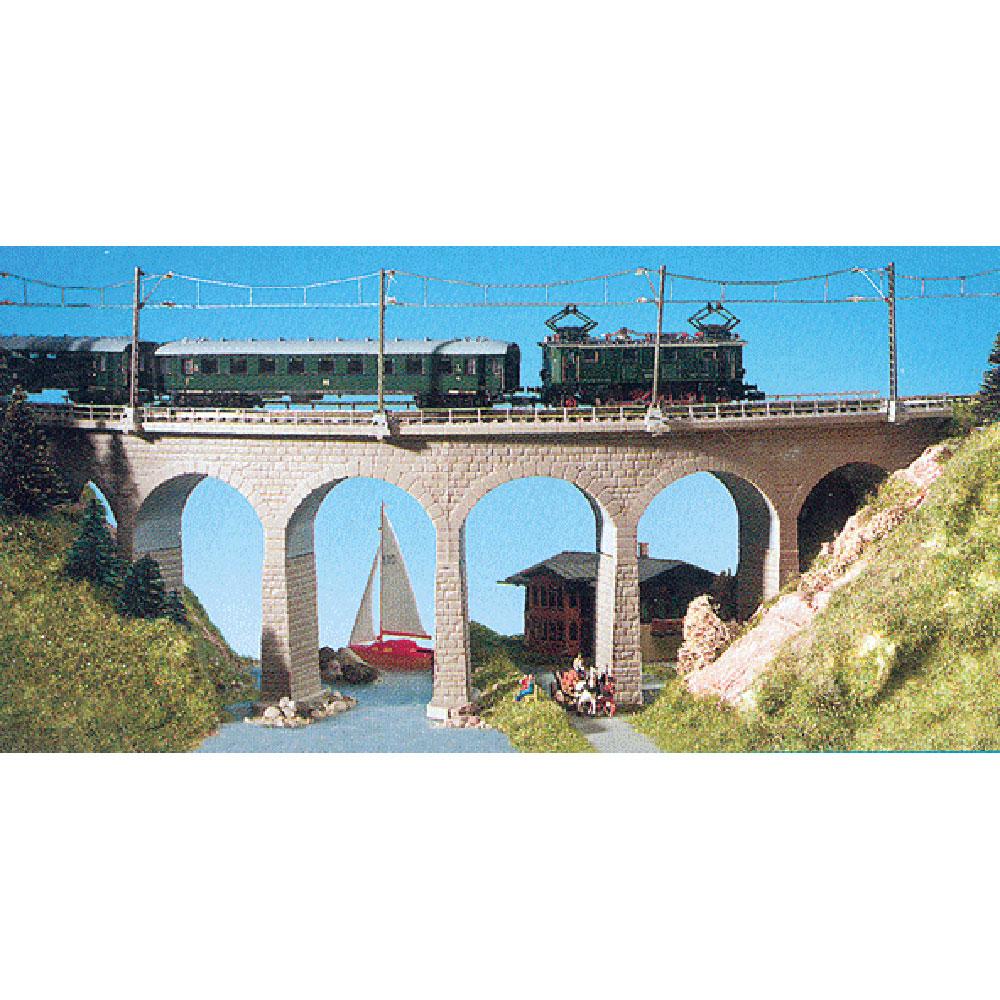 石積みカーブ橋 (単線用) :キブリ 未塗装キット N(1/150) 37665