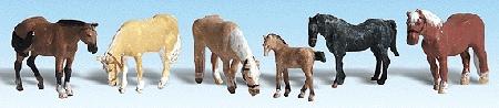 農場の馬 :ウッドランド 塗装済完成品 HO(1/87) 1862