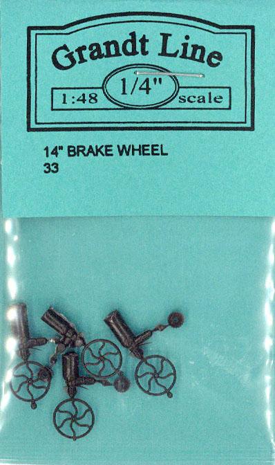 ブレーキホイール(ブレーキハンドル) :グラントライン 未塗装パーツ O(1/48) 33