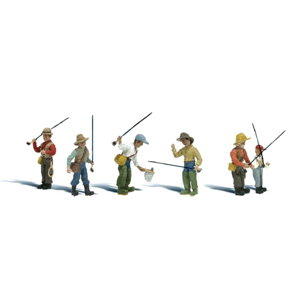 釣り人(フライフィッシング) :ウッドランド 塗装済完成品 N(1/160) A2215
