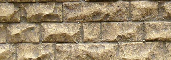石垣 軟質素材 (石中) 33 x 8.5cm :チューチ 塗装済みキット ノンスケール 8262