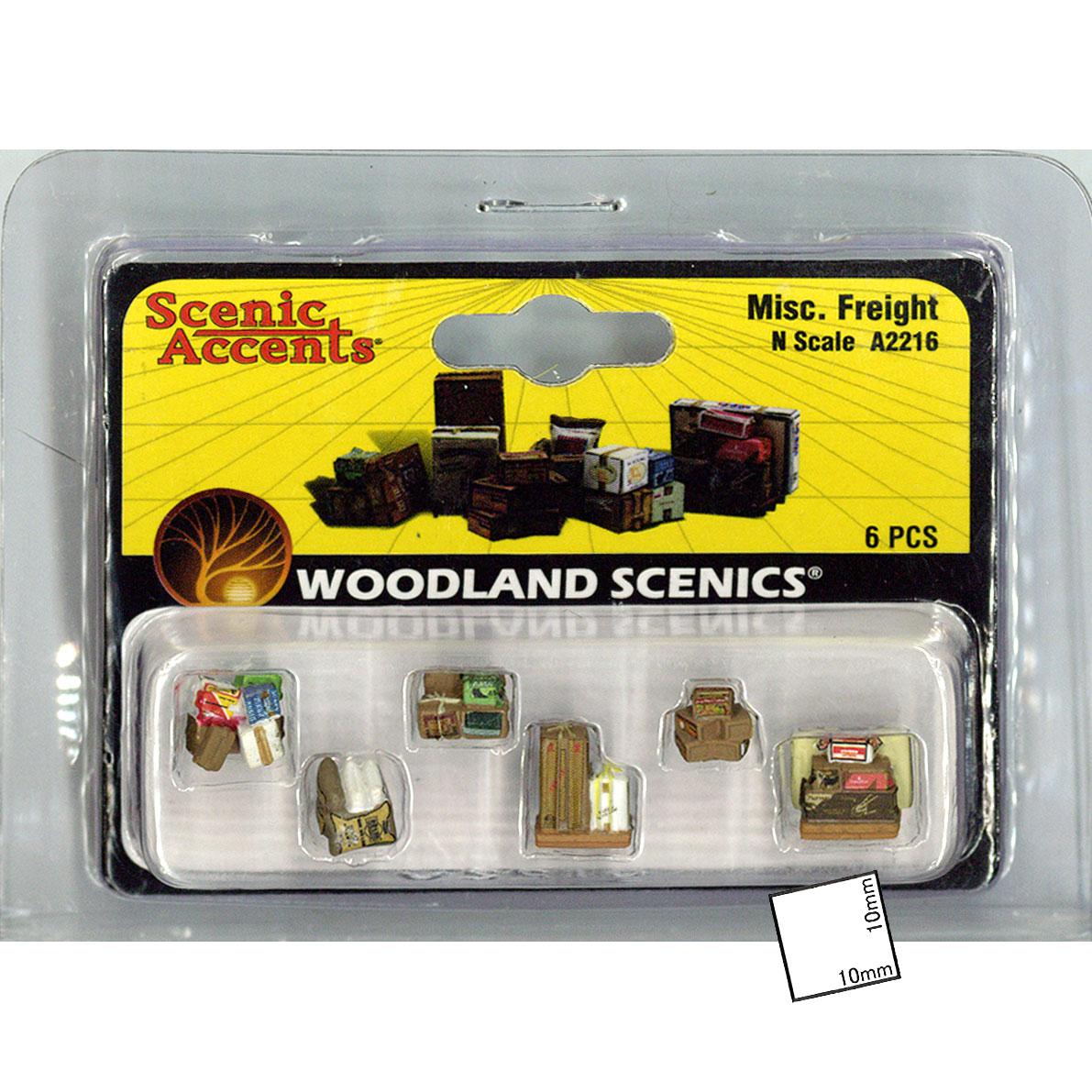 荷物セット(6個入り) :ウッドランド 塗装済完成品 N(1/160) A2216