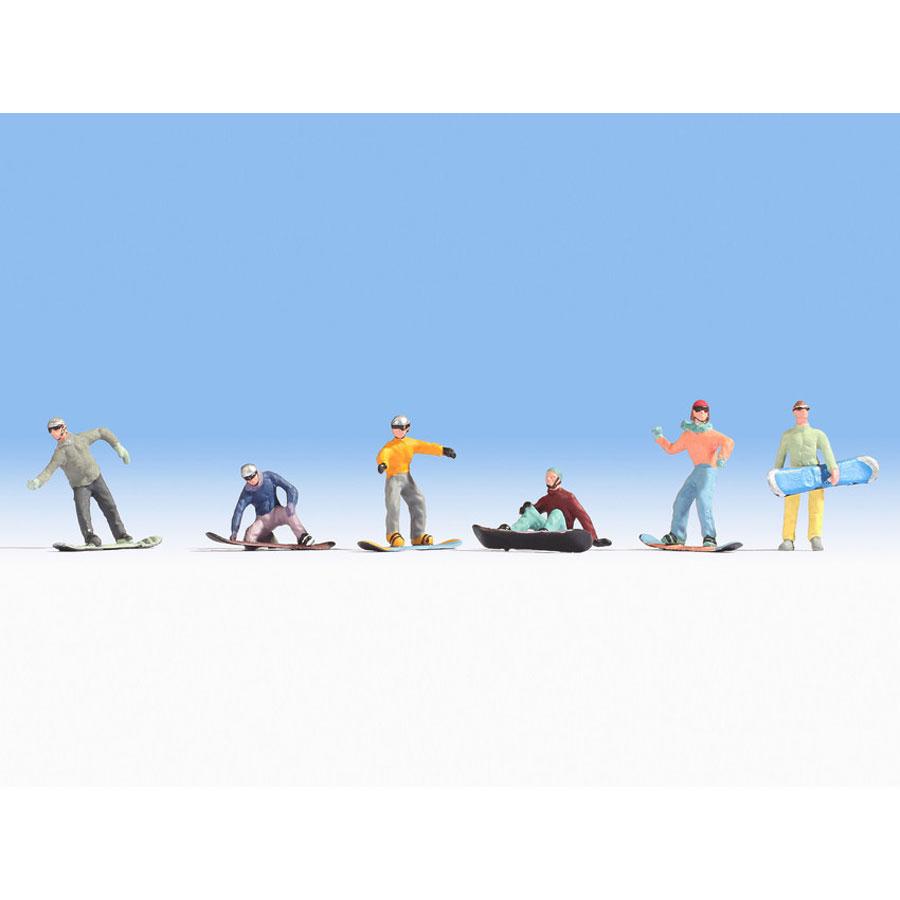 スノーボードで遊ぶ人たち :ノッホ 塗装済完成品 HO(1/87) 15826